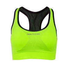 Crop Top Women Fitness Sports Bra Push Up Breathable Yoga Bras Underwear Running Sports Bra