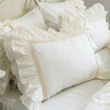 2pcs New big embroidery ruffle pillow case soft quality pillow cover princess elegant pillowcase bed textile pillowcases youtube(China)