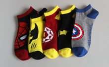 Cheap price wholesale famous heros socks women's cartoon batman spiderman socks Original brand 100% good quality cotton socks