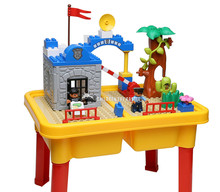 1485 police block table  toys  particles Compatible With legoe  grand parent-child police 1-5 home