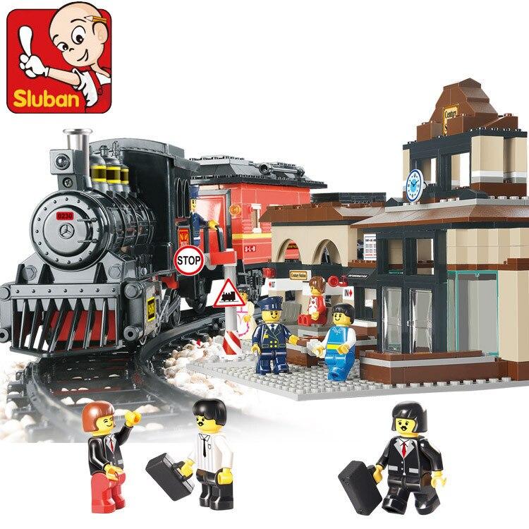 Model building kits compatible with lego Explorers League Train 3D blocks Educational model building toys hobbies for children<br>