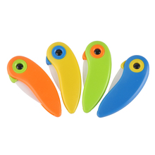 Fashion Cute Bird Shape Ceramic Kitchen Pocket Knife Kitchenware Tools For Cut Fruit Sharp Gift Mini Knives 4 Color Choice(China)