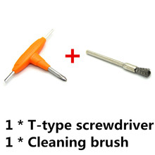 E-XY Electronic Cigarette DIY Tool Combination T-type Screwdriver + Cleaning brush Atomizer Tanks Heating Wire Coils DIY