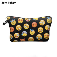 Jom Tokoy 3D Printing Fashion Women Makeup Bags With Multicolor Pattern Travel Ladies Pouch Cosmetic Bag(China)