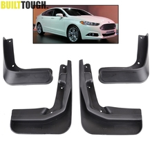 4Pcs Mud Flaps Fit For 2013 2014 2015 2016 2017 Ford FUSION MONDEO Molded Splash Guards Mudguards Front Rrear Fender Accessories