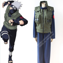 JP Hot Selling vest+coat+pants naruto Anime Customized cosplay costume Naruto Hatake Kakashi Cosplay Costume set(China)