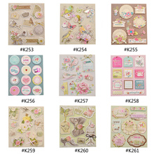 She Love Fashion Vintage Deocrative Sticker 3D Adhesive Stickers DIY Scrapbooking Paper Craft(China)