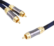 HIFI RCA Y Adapter Cable Subwoofer Y Cable 1x Cinch to 2x Cinch audio cable 1 rca to 2 rca cable(China)