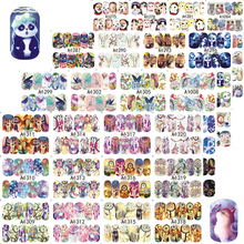 48pcs/set Cute Animal Full Wrap Nails Decals  Water Transfer Nail Art Sticker DIY Decorations Tips Slider JIA1273-1320