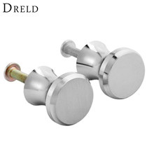 DRELD 2Pcs Furniture Pull Handles Aluminum Cupboard Drawer Cabinet Knobs and Handles Door Kitchen Pull Handles Furniture Fitting