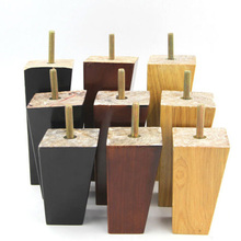 4 pcs  per Set  4'' 5'' 6'' Solid Wood Taper Sofa Legs Wardrobe Cabinet Chair Furniture Feet