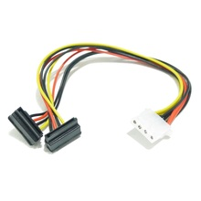 4 PIN to 2 SATA Power Cable Size 265mm