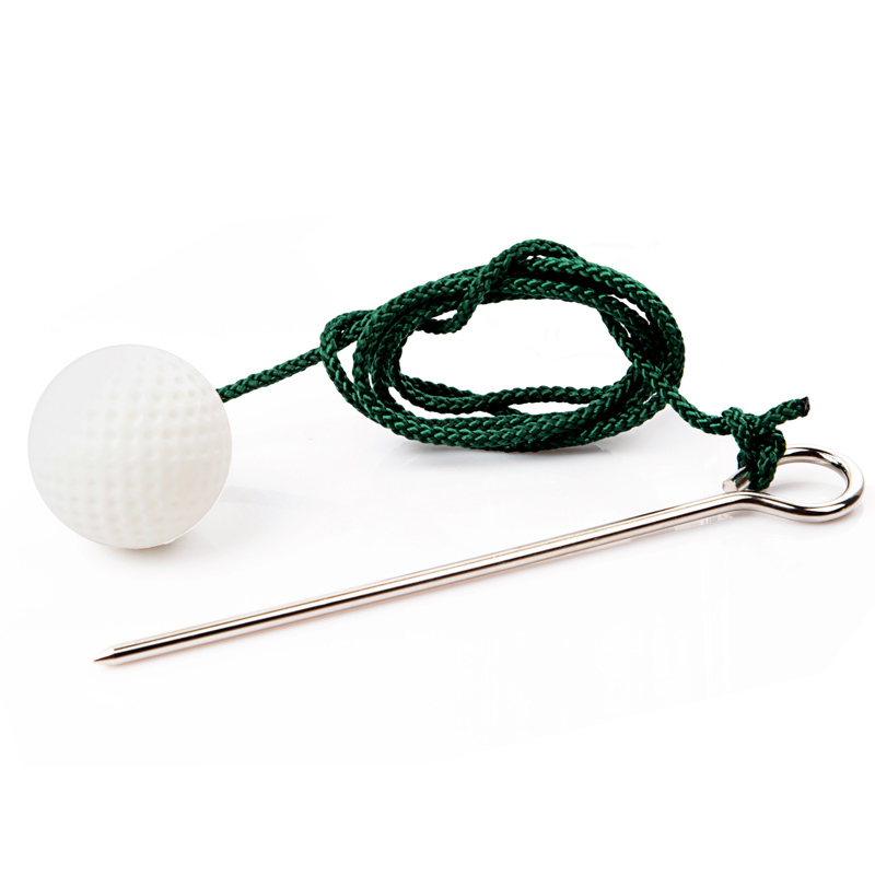 Rope Golf Ball Convenient For Trainer Practice Swing Indoor Outdoor Beginner Golf Equipment Aids IMPROVE SHOTS(China (Mainland))