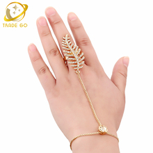Fashion Fish Bone Rhinestone Full Finger Rings for Women 2017 Gold Color Ring Turkish Jewelry Bagues Argent Bijoux Anillos