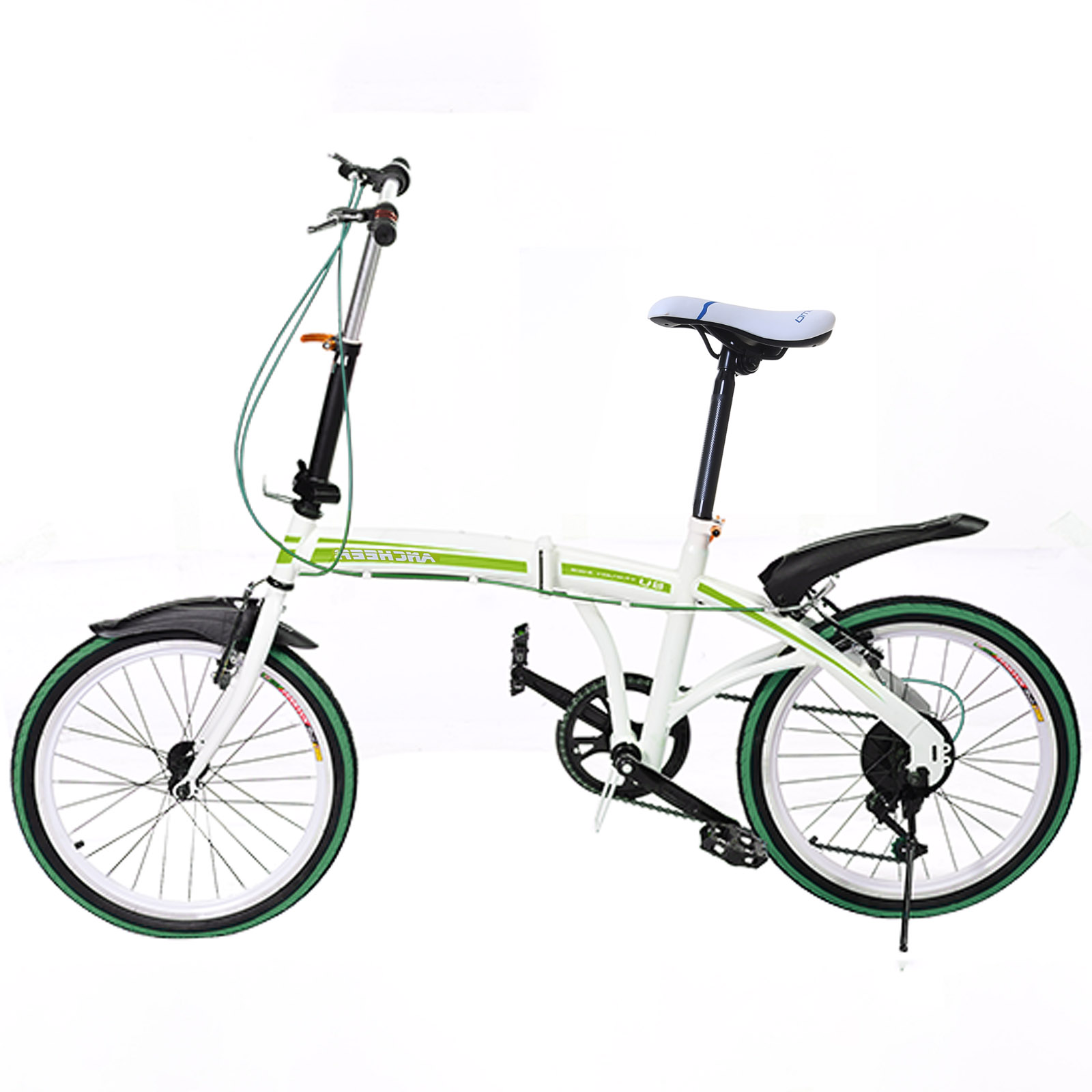 Elifine 20 inch Lightweight Portable Folding Bike 6-Speed Road Bicycle Cycling Adult Women Adjustable Bicycle Foldable Bicicleta(China)