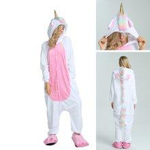 Женские пижамы Kigurumi Хэллоуин Взрослые животные фланелевые пижамы  пижамный комплект Пикачу стежка Единорог панда мультфильм с 9f7c09ea9306b