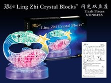 New 3D Crystal Puzzle Puzzles Flashing Horoscope Puzzle Flash Pisces Educational Toys Christmas Kid's Present New Year Gift(China)