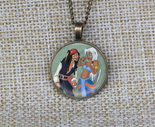 New cartoon Captain jack sparrow and kida lover necklaces Custom photo pendant couples necklace jewelry gift ideas collares