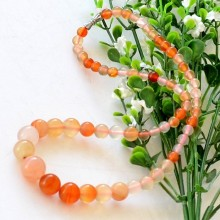 Beads 6-14mm natural stones birthday gift natural color carnelian necklace chain fashion jewelry necklaces accessories