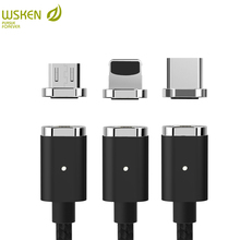WSKEN Magnetic Charge Cable Micro USB Type c USB C Fast Charging Data Samsung S9 S8 Huawei xiaomi iPhone Cable Type-C