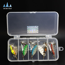 new brand High-quality Metal fly Fishing Lure Hard Bait fishing tackle with Feather/Treble High carbon steel fishing Hook pesca