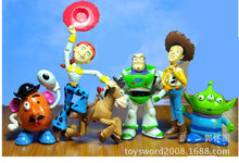 Free shipping 6pcs/set Toy story cartoon pvc action figure toys for kids,toy story figure set