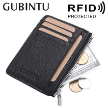 Buy GUBINTU Rfid Wallets Genuine Leather Rfid Blocking Card Holder Men Rfid Protected Wallets Card Holders for $8.39 in AliExpress store