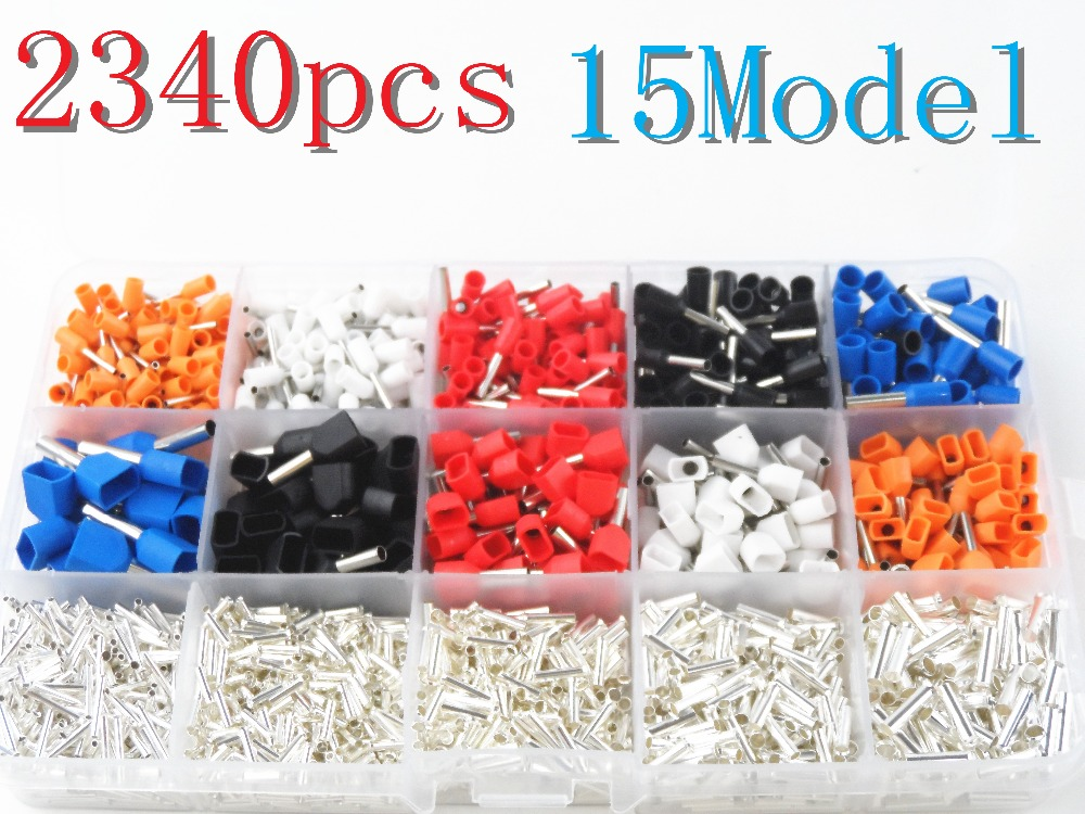 990pcs Wire Crimp Tube Connector Spade Insulated Terminal Crimping ...