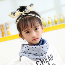 Black Dot Baby Scarf Chiffon Infinity Scarves and Shawls Autumn Winter Warm Hijab Foulard New Style Designer Kids Children Scarf(China)