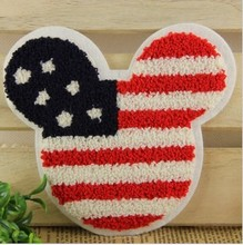 2 pcs/set 17*14.8CM Mickey Mouse head logo Embroidered Sew-On Patches For Clothes Garment Applique DIY Accessory