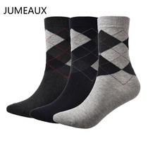 JUMEAUX 3 Pairs/Lot Hot Men Dress Socks Breathable Cotton Classic Business Brand Socks Male High Quality(China)