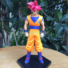 Anime Dragon Ball Super Saiyan God Goku PVC Action Figure Collectible Model doll toy 16cm 24#(China)