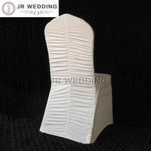 100 PCS Spandex Lycra Chair Cover Ruched at Middle Back Lycra Ruffled Chair Cover for Wedding Decor