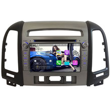 7'' Quad Core 2GB RAM Android 7.1.2 WiFi BT 4G Car multimedia player GPS Capacitive Screen For Hyundai SANTA FE 3 Hole 2006-2012(China)