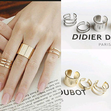 FAMSHIN 3Pcs. / Set. Fashion Top Of Finger Over The Midi Tip Finger Above The Knuckle Open Ring For women Fashion Jewelry R3(China)