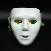 JabbaWockeeZ Face Mask Halloween Party Deco Hip-Hop Ghost Dance Mask White Green #94801(China)