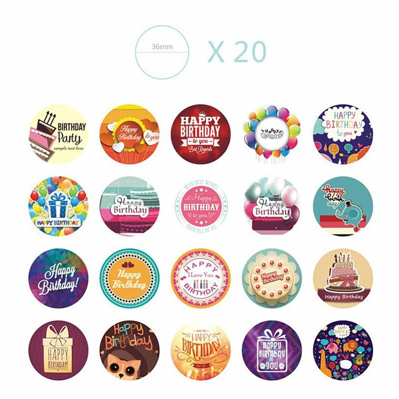 CUTE KID HAPPY BIRTHDAY PARTY GIFT Scrapbooking STICKER LOT NUMBER TEXT LABEL