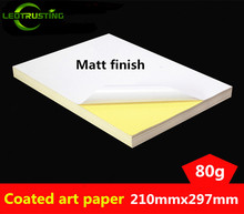 Leotrusting 50sheets A4 Size 210mmx297mm White Blank Glossy & Matt Sticker Paper Label Printing Paper A4 Adhesive Stickers(China)