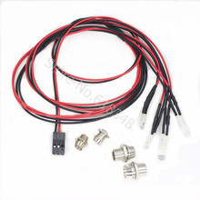 1 Set 2x5mm White & 2x3mm Red LED Light System 4P for RC 1/10 Drift Night headlamps headlights