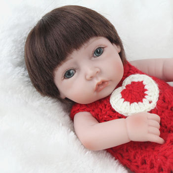NPKDOLL Nueva Moda Renacer Muñeca Hecha A Mano del Recién Nacido 10 Pulgadas Mini Totalmente Cuerpo de Silicona Renace Juguetes Para Niños Princesa de Las Muchachas de Regalo