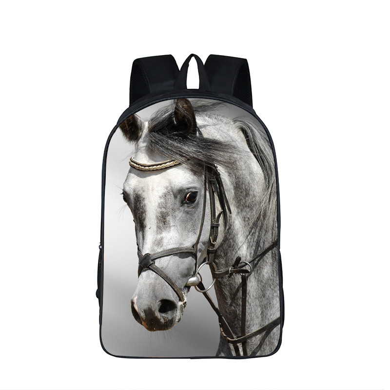 Animal Horse / Dog Prints Backpack For Teenage Children School Bags Boys Girls School Backpack Bulldog Kids Shoulder Bag <br><br>Aliexpress