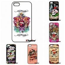 For iPhone X 4 4S 5 5C SE 6 6S 7 8 Plus Galaxy J5 J3 A5 A3 2016 S5 S7 S6 Edge Ed Hardy Tattoo Hard cell phone case cover Coque(China)