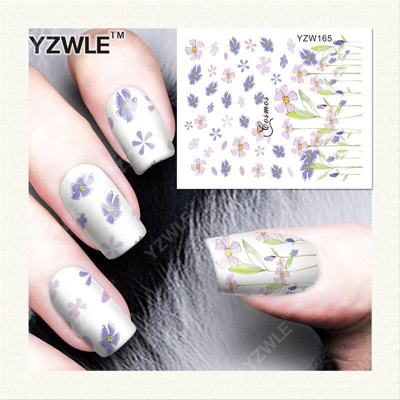YZWLE  1 Sheet DIY Designer Water Transfer Nails Art Sticker / Nail Water Decals / Nail Stickers Accessories (YZW-165)<br><br>Aliexpress