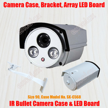 Waterproof Bullet Camera Casing & Bracket & Array LED IR Board Size 90 Aluminum Alloy Case IP66 Outdoor Housing Sunshield Cover