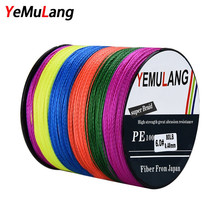 YeMuLang 300M PE Braided Fishing Lines 4 Strands Multifilament Crod Fishing Pe Line For Fishing Accessories linha para pesca(China)