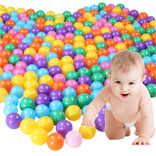100Pcs 5.5cm EcoFriendly Colorful Soft Plastic Water  Wave Ball Baby Funny Toys  air ball outdoor fun Toy ball for children