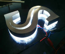 3D outdoor advertising illuminated letters light box light up letter for hotals bars shops