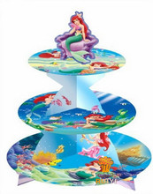 New Mermaid Theme Kid's Birthday Party Supplies Cupcake Stand Cake Plate Christmas Party Dessert Stand Candy display tray