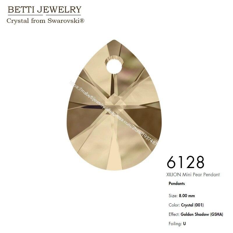 6128 Xilion mini Pear Pendant GSHA-1