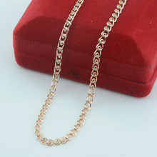 FJ Smart 3.5mm Women Girls Men 585 Jewelry Gold Color Snail Twisted Necklace Factory Chains 49cm 60cm